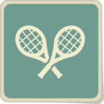 Icone de deux raquettes de tennis.