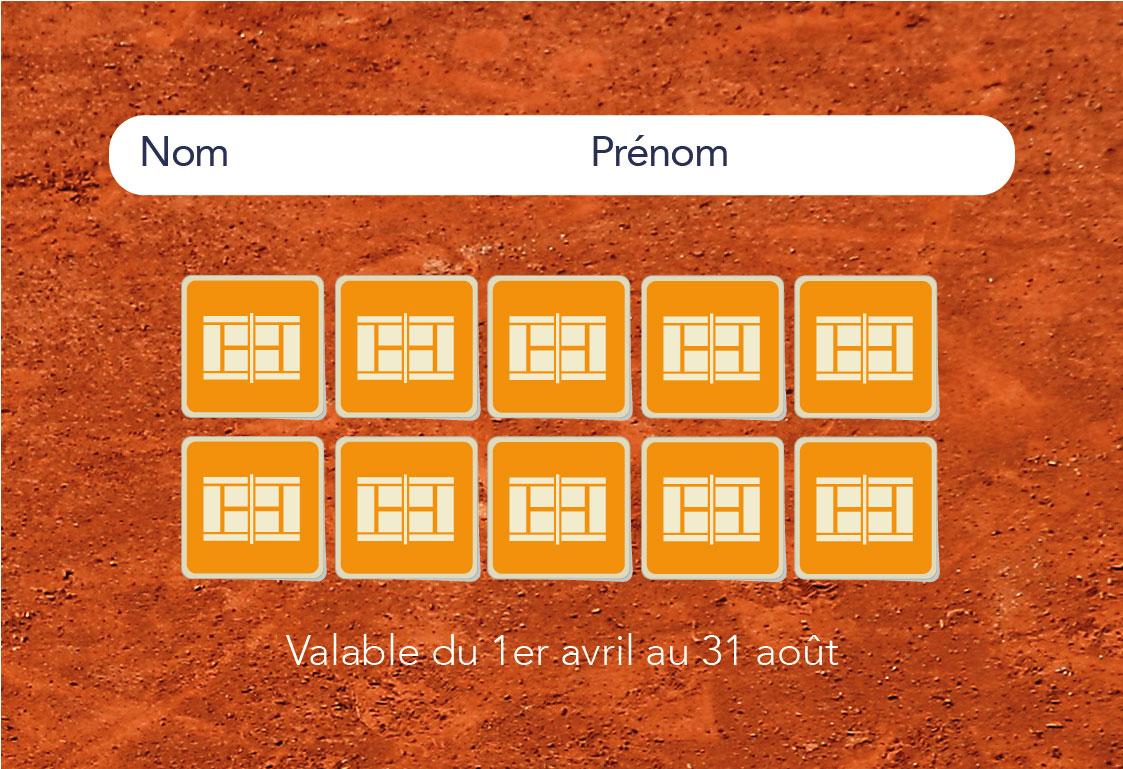 Carte d'abonnement du Tennis Club de Quehan.