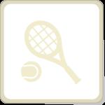 Icone raquette et balle de tennis.