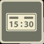 Icone d'une plaquette de tennis marquant 15 : 30.