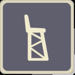 Icone chaise de juge arbitre au tennis.